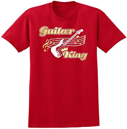 MusicaliTee Acoustic Guitar King - Red Rot T Shirt Größe 104cm 42in Large