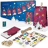 Calendario dell'Avvento fai da te: delizioso calendario dell'Avvento 2021 da comporre con 24 sacchetti decorativi e numeri adesivi – Calendario dell'Avvento fai da te – Calendario dell'Avvento LIVAIA