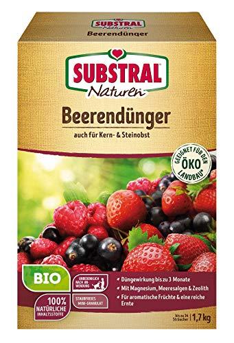 Substral Naturen Bio Beerendünger, für Beerenobst, Kern und Steinobst, 3 Monate Langzeitdünger 1,7 kg