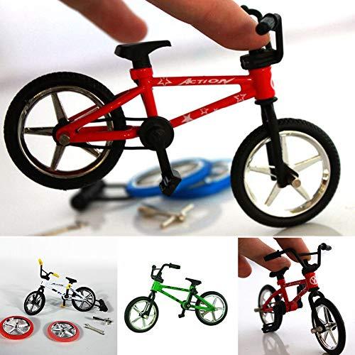 Dorime Eccellente Giocattolo di qualità in Lega Finger Bambini Funzionali Finger Bike Mini-Finger-BMX della Bici I Fan del Regalo del Giocattolo 12.5 * * Rosso 4,5 Centimetri