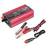 Duokon 1500W inversor de corriente para automóvil Adaptador convertidor del cargador USB sinusoidal modificada DC 12V / 24V a CA 220V
