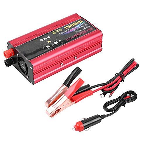 【𝐂𝐡𝐫𝐢𝐬𝐭𝐦𝐚𝐬 𝐆𝐢𝐟𝐭】DC 12V / 24V a AC 220V 1500W Inversor de corriente para coche, Adaptador Convertidor de cargador USB de onda sinusoidal modificada