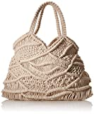 PIECES Damen Pcnanna Crochet Bag Sww Umhängetasche, Beige (Nature), 1x32,5x30 cm
