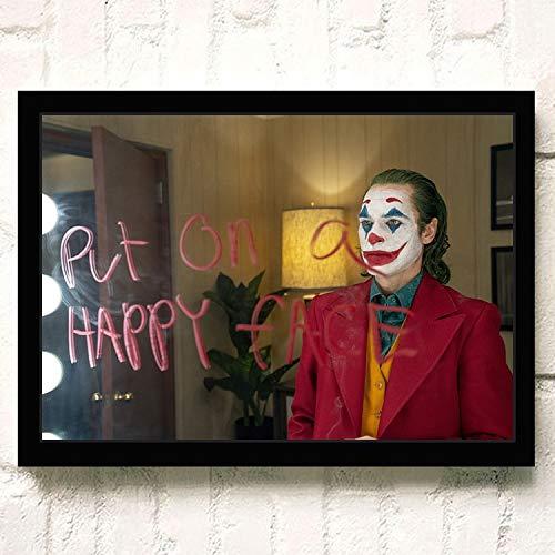YIYEBAOFU DIY Pintar por números Joker Joaquin Phoenix Heath Ledger Movie s Wall Art Painting Print On Canvas Living Room Poster Pictures Decoración para el hogar40x50cm(Sin Marco)