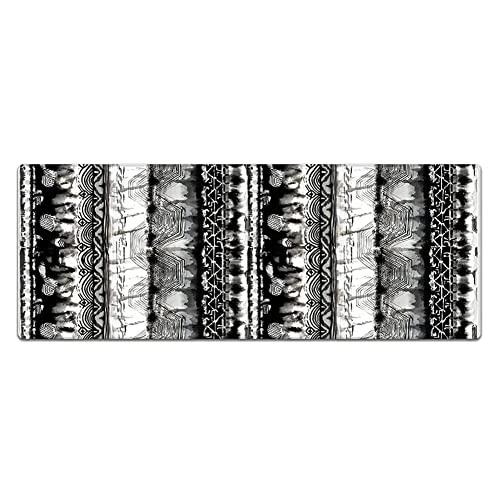 Alfombra de cocina Set de cocina Colinas de suelo de 2 piezas CLORURO DE POLIVINILO Anti fatiga comodidad estera de pie impermeable a prueba de aceite antideslizante lavable lavabo alfombra de baño