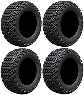 Full set of Arisun X-Trail AT06 22x11-10 (4ply) Golf Cart Tires (4)