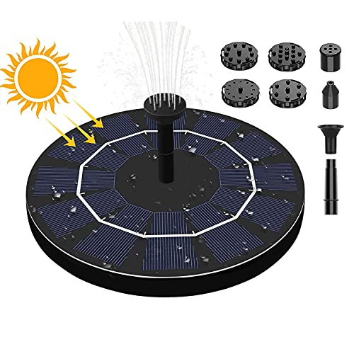 HENJI Bomba Solar,1.5W Fuente Solar Jardín,Bomba de Agua Solar,Bomba de Fuente Solar,para...