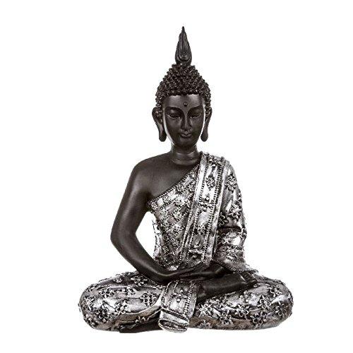 dcasa – Glücksbuddha-Figur, sitzend, Kunstharz, 30 cm, Dekoration