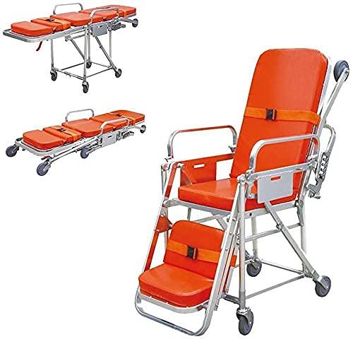 SFSGH Camilla de Ambulancia de Emergencia Liviana Camilla de Hospital de Emergencia médica de aleación Capacidad de Carga con Ruedas 350 Libras para traslado de Pacientes.