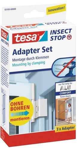 tesa Fliegengitter Adapter-Set für ALU-Türen, weiß