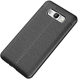 Phone Case for Samsung Galaxy j7 2016, Slim ultra-Thin leather Protection Phone Cover Black