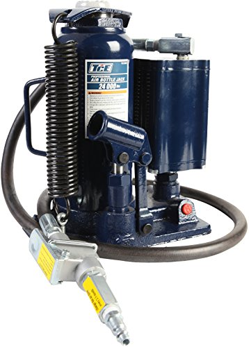 TCE TCE31000 Torin Pneumatic Air Hydraulic Bottle Jack with Manual Hand Pump, 12 Ton (24,000 lb) Capacity, Blue