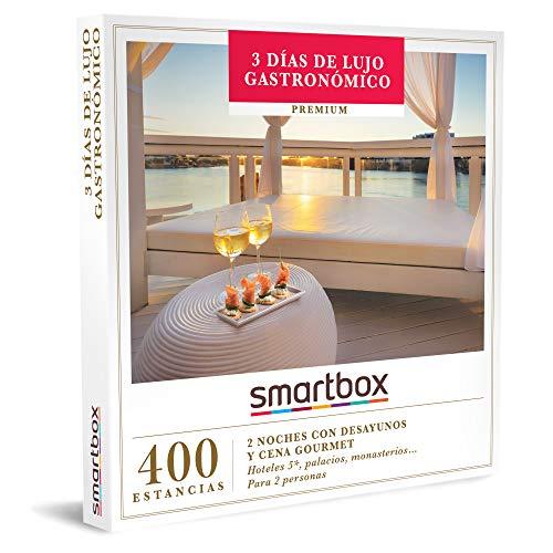 Smartbox - Caja Regalo Amor para Parejas - 3 días de Lujo gastronómico - Ideas Regalos Originales - 2 Noches con Desayuno y Cena Gourmet para 2 Personas