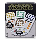 Spin Master Games Double Fifteen Color Dot Dominoes Game in a Tin (6029741)