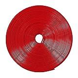 MAXWIN(マックスウィン) リムラインモール 8m リムガード タイヤ ホイール ガード キズ防止 キズ隠し カラー テープ ドレスアップ DIY 耐熱耐寒性ゴム (赤) K-LIM01-R