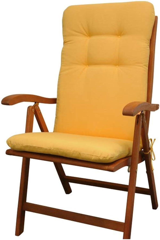 Indoba Hochwertige Sitzauflage gelb Hochlehner für Gartenmbel Polsterauflage Sitzpolster Stuhl Garten Gartenstuhl