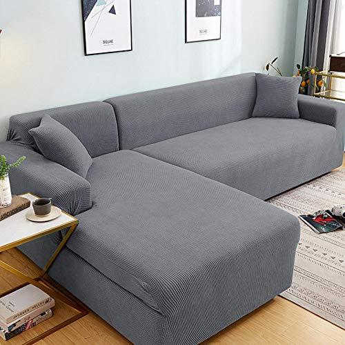 B/H Elastisch Sofa Überwürfe Sofabezug,für Wohnzimmer Stretch Sectional Schonbezüge L-Form Sessel Protector-10_190-230cm,Ecksofa L Form Stretch Antirutsch