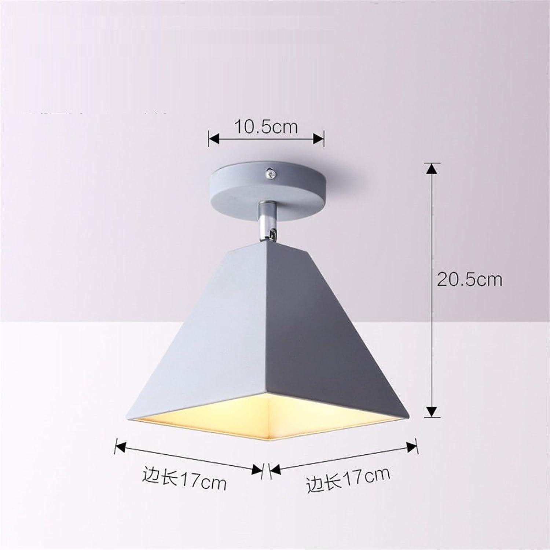 MEIHOME Deckenleuchten Graue LED Gang Flur 17  20,5 CM Deckenlampe für Schlafzimmer Wohnzimmer Küche Badezimmer