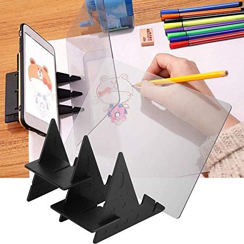 Optisches Zeichenbrett, Acryl Comics Reflection Tracing Line Tracing Board Tisch Copy Pad für Studenten Erwachsene Künstler Anfänger