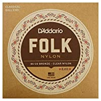 D'Addario FOLK NYLON EJ33×5SET ボールエンド付きクラシックギター弦