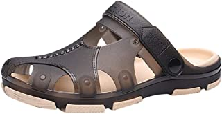 LILICHIC Men's Slipper Summer Walking Sandals Breathable Casual Outdoor Non-Slip Beach Slipper