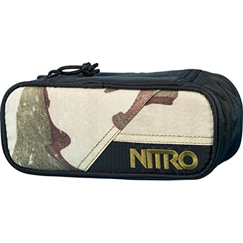 Nitro Pencil Case, Federmäppchen, Schlampermäppchen, Faulenzer Box, Federmappe, Stifte Etui, Desert Camo