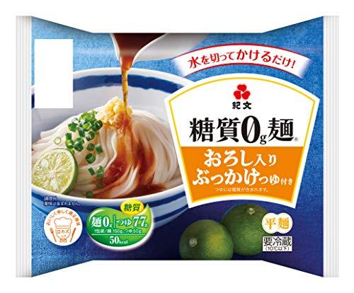 紀文【糖質0g麺 】 おろし入りぶっかけつゆ付き 1ケース(6パック)