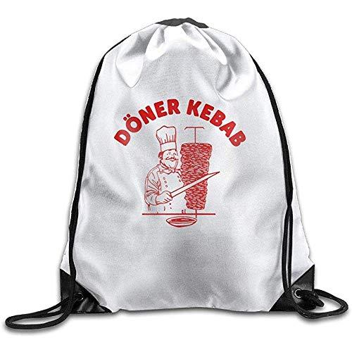 Reise-Schultertasche, Kordelzug-Rucksack, Kordelzug-Tasche, DÃ&Ndash; Ner Kebab, leichter Cinch Pack, Großpackung, Aufbewahrungstasche, Sportrucksack