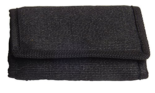Green Breeze Imports Black Men's Natural Abaca Fiber Large Wallet