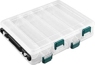 comprar comparacion OhhGo Cajas de Aparejos de Pesca de plástico de Dos Lados 12 Compartimentos Caja de Almacenamiento de Pesca Organizador se...