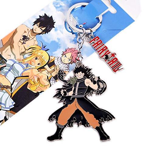 ALTcompluser Anime Fairy Tail Schlüsselanhänger Schlüsselbund Metall Anhänger Schlüsselring, Dekoration für Tasche/ Rucksack/ Mäppchen( Gajeel Reitfox )