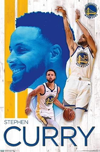 Trends International NBA Golden State Warriors - Stephen Curry 19 Wall Poster, 22.375' x 34', Unframed Version