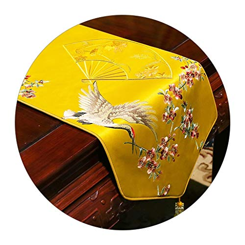Caminos de mesa Rectangular Corredor De Mesa De Decoración De Escritorio De Gabinete De TV Corredor De Mesa De Decoración De Tela De Mesa De Café (Color : B, Size : 33 * 180cm)