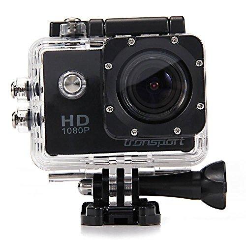 Tronsport SJ4000 Novatek 1.5Inch 12MP CMOS Sensor Waterproof Sports Camera 170° Wide Angle 1080P 30FPS H.264 HD DV/CAR (Two Batteries included) (Black)