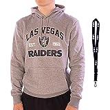 New Era Sudadera con capucha, diseño de la NFL de baloncesto de la NBA de béisbol de la MLB Team, Las Vegas Raiders Grey, S