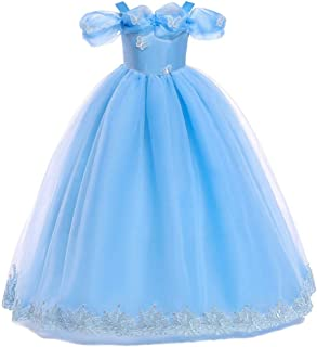 fa87186254064 QZ Filles Robe Filles D'été Enfants Princesse Robe Enfants Blanche Neige  Rôle Costume-