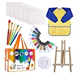 tJexePYK Niños de la Pintura del Dibujo del Kit de Suministros de Pintura Cepillos Lienzo Paleta de Caballete Art Crafts para la Ducha Bebé