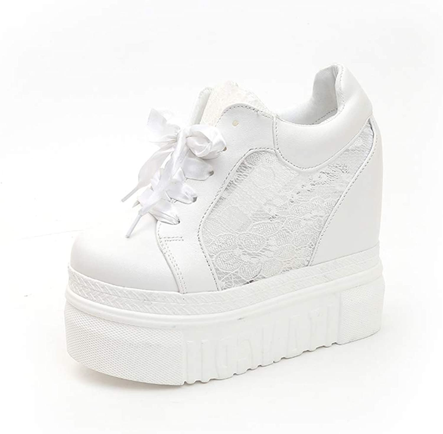 Btrada New Women Summer Platform Casual Wedges Sneakers Ladies Fashion 13CM Height Increased shoes