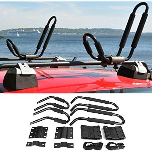 Canoa Mount Carrier Rack Kayak Boat Surf Ski Roof Top Mount Bar Rack Car SUV Barra transversal