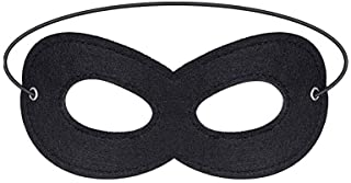 1 Piece Superhero Felt Eye Mask, Black Super Hero Mask, Half Mask, Halloween Dress Up Masks with Adjustable Elastic Rope- Great Party Cosplay Accessory