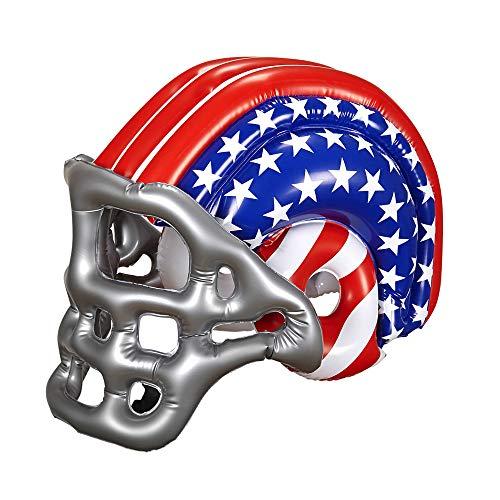 Widmann 04867 Aufblasbarer Footballhelm mit Amerikanischen Sternen und Streifen für Kinder, One Size