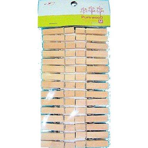 天然木でインテリアにピッタリ 木製ピンチ ナチュラル Mサイズ (30個入り)
