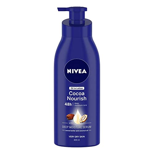 NIVEA Body Lotion, Oil in Lotion Cocoa Nourish, For Very Dry Skin, 400ml