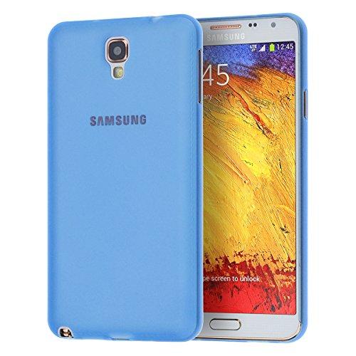 doupi UltraSlim Custodia per Samsung Galaxy Note 3 Neo, Satinato fine Piuma Facile Mat Semi Trasparente Cover, Blue
