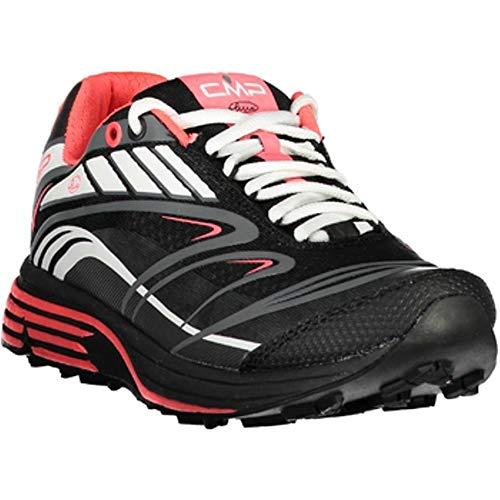 CMP Chaussures de Course Chaussures de Sport Maia WMN Sentier Chaussures Noir Léger Plaine Nylon - U901 Nero, 38 EU