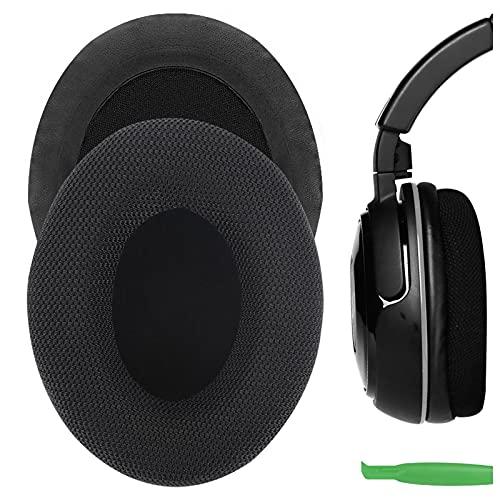 Geekria Comfort Mesh Stoff Ersatzohrpolster für Turtle Beach Ear Force XP500, XP400, XP300, XO Four, XO Three, XO ONE Gaming Kopfhörer Ohrpolster, Headset Ohrpolster Ersatzteile (Schwarz)