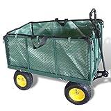 carrello a spinta per trasporto materiali, carrello da giardino