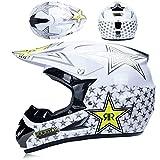 para El Descenso Quad Enduro Racing Motocrós De Casco, Casco De La Cara Llena MTB Set, La Motocicleta Todo Terreno Casco Hijos Adultos Casco Protector (Color : 12, Talla : L)
