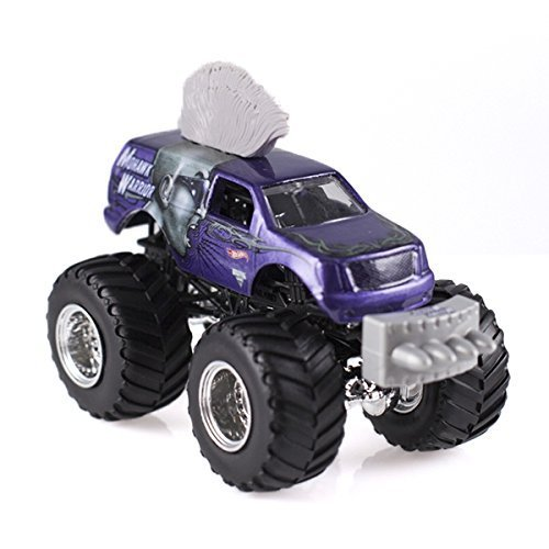 Mohawk Warrior Purple 2015 Hot Wheels Monster Jam Monster Truck Includes Snap-on Battle Slammer 1:64 Scale #8 by Monster Jam