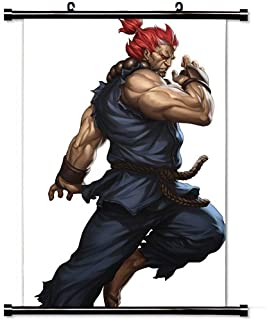 2015 Pretty Home Decor Art Famous Film Poster with Akuma Street Fighter Iii Rd Strike Game Wall Scroll Poster Fabric Painting 24 X 36 Inch (60cm X 90 cm)